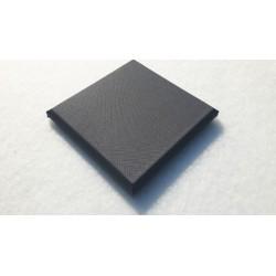 Akoepaneel doek 25x25 cm grijs