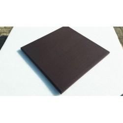 Akoestisch paneel bruin stof